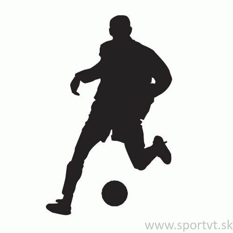 Nálepka silueta futbal 44ab73ec1eb